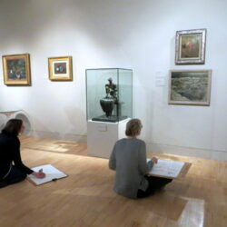 Teachers use sketchbooks to help them see, understand and reflect, in a gallery environment