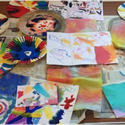 """""""This club runs as part of The Home Ed Art Group, a group for home educated children in Hampshire, Surrey and West Sussex. The group allows children to experiment and explore various art processes while introducing them to the ideas and emotions behind art works. My art group takes place in a large village hall with access to outdoor space""""."""