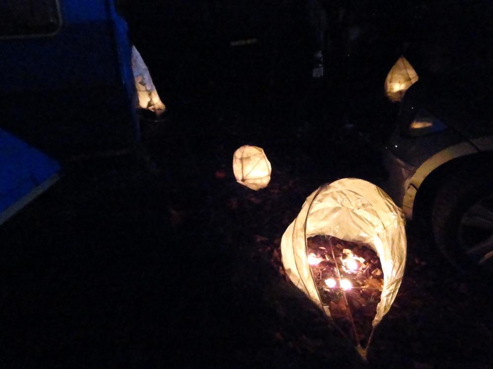 Lanterns alight