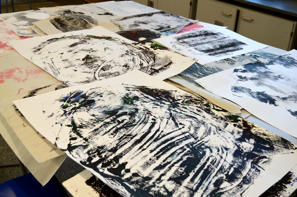 monoprints at Cambourne - SC