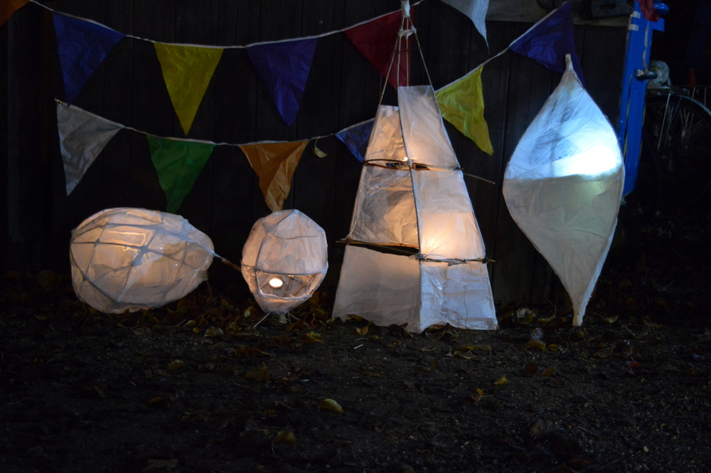 making withie lanterns - SC