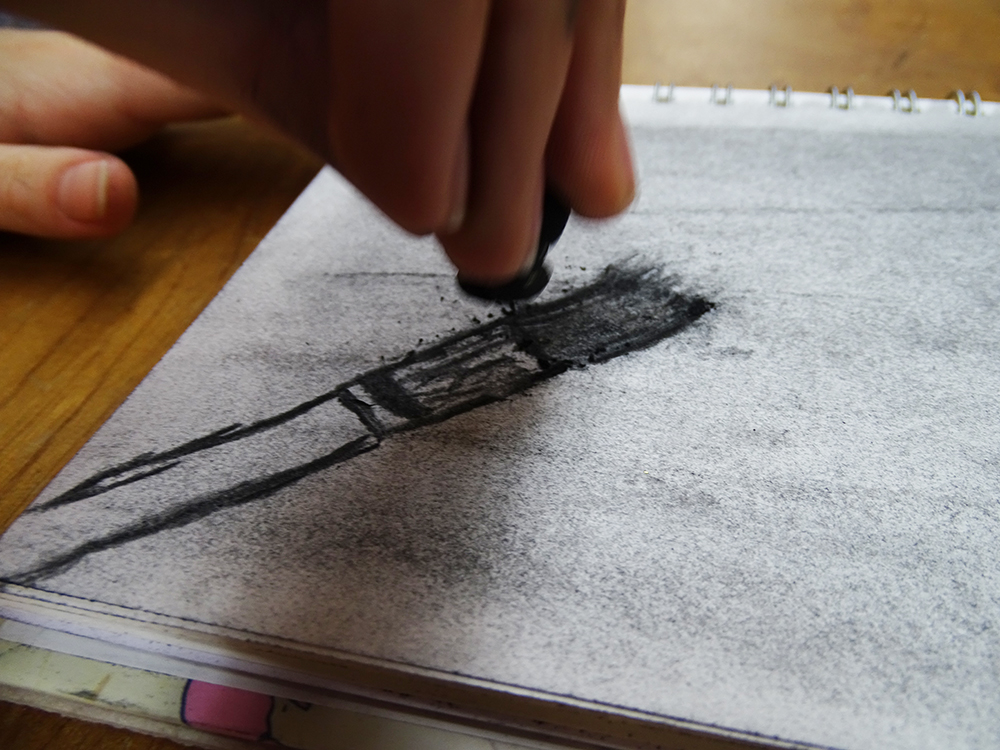 Using the charcoal in different ways