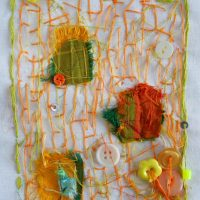 Andrea Butler Stitched Drawing