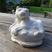 Lion cast in plaster