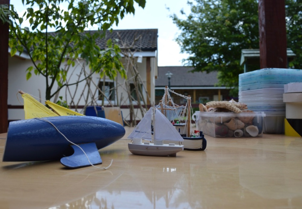 Toy boats at Ridgefield Primary School, Cambridge