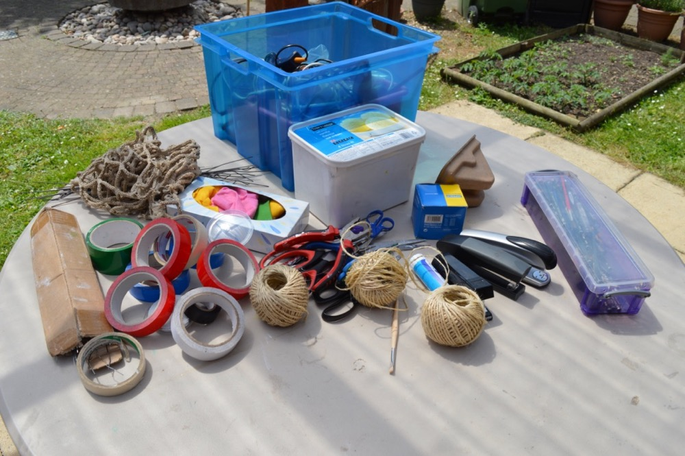 Everyday materials for making boats SC