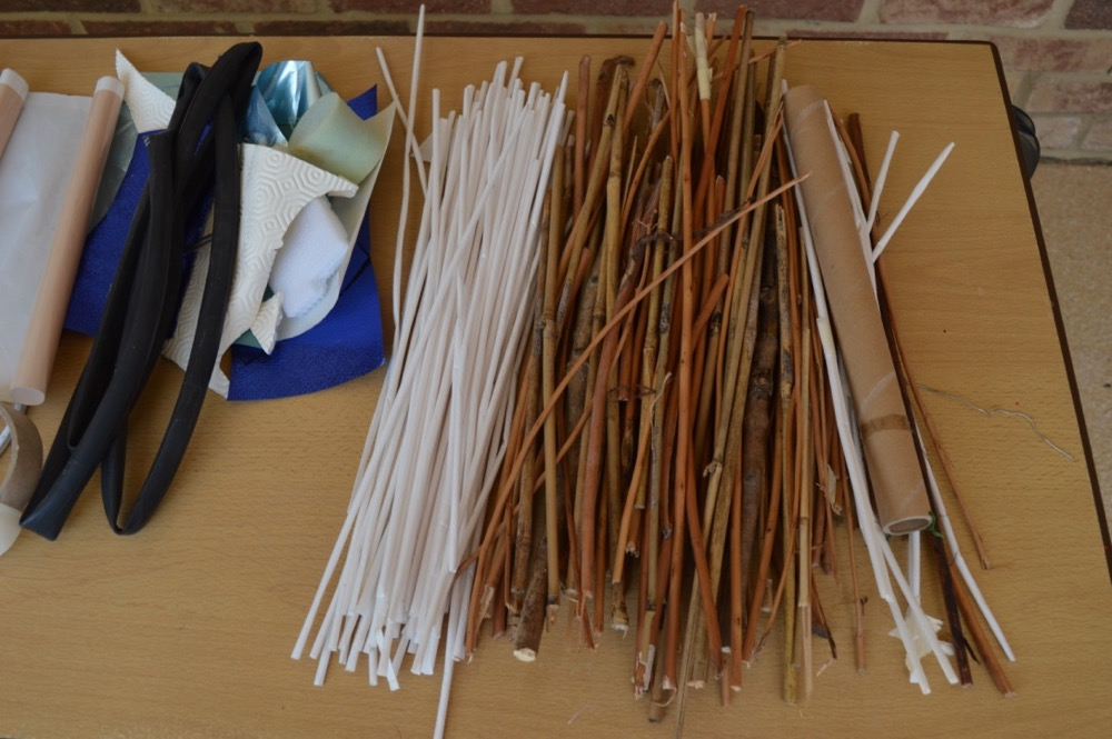 Withies and Art Straws (left over from other projects) SC