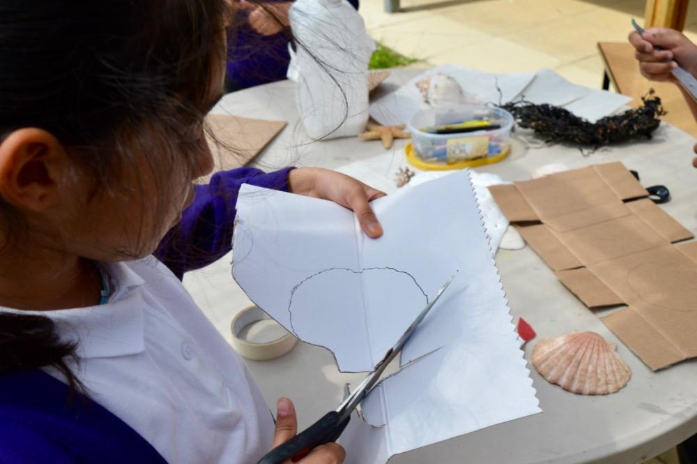 A beginning - cutting out a shell shape