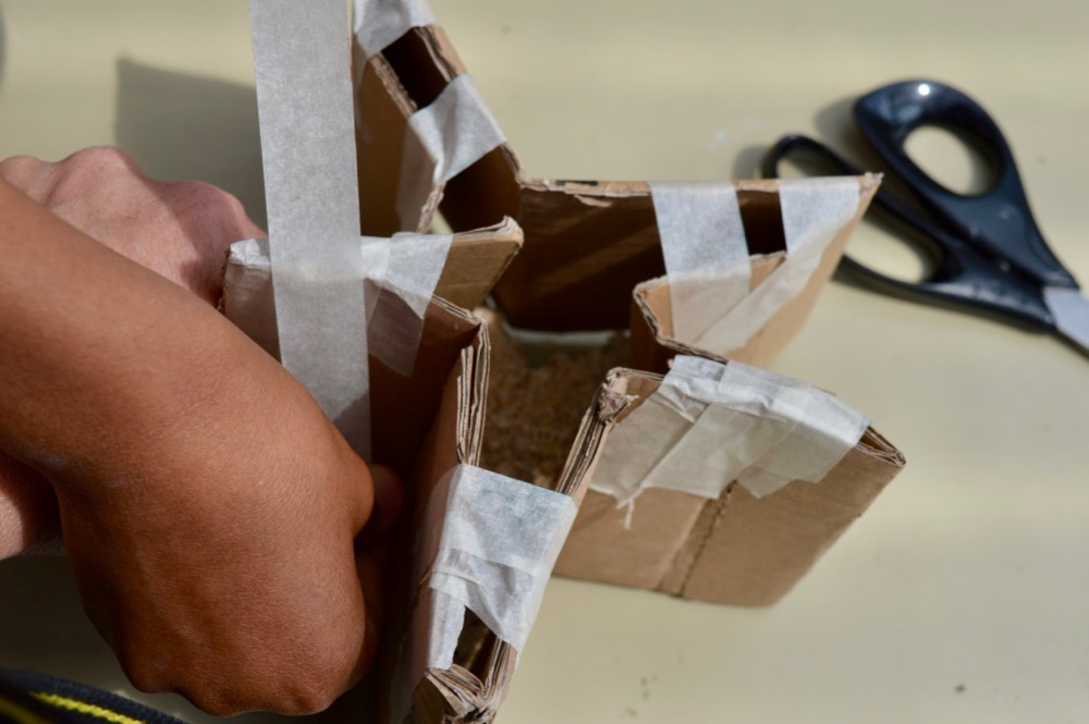 Making form and getting the cardboard into shape - SC Ridgefield