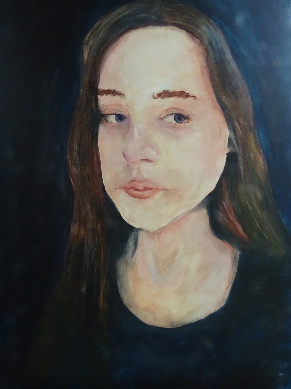 acrylic self-portrait