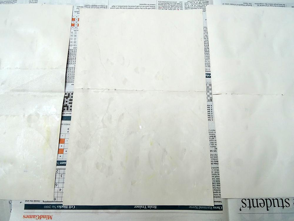 Screenprinted on the reverse