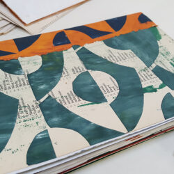 Paula Briggs shares how to make a sketchbook from recycled papers
