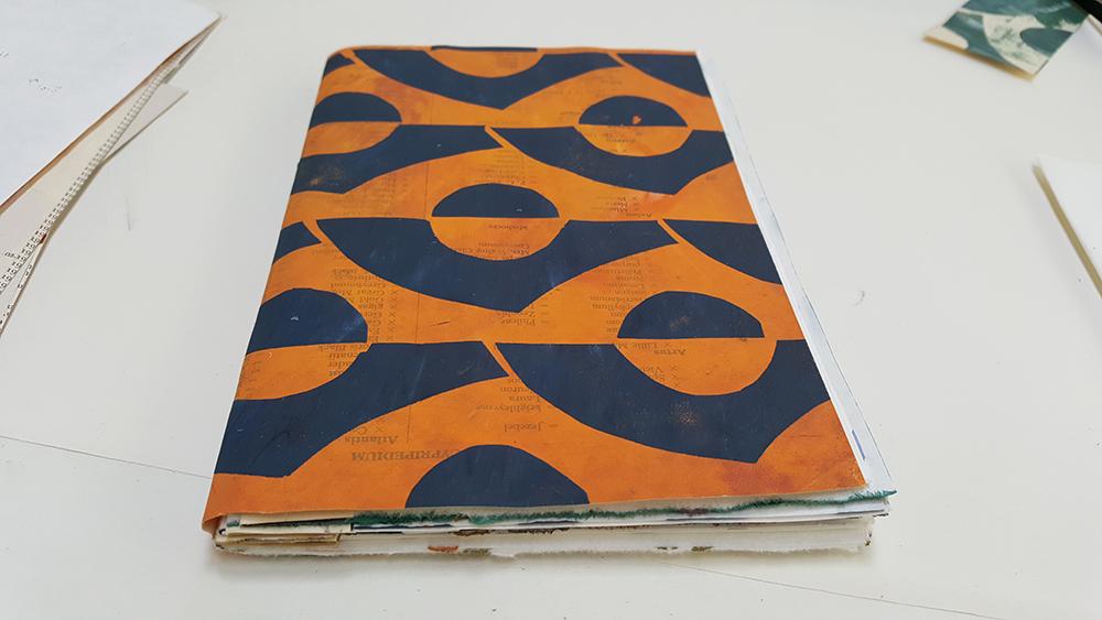 Finished slim sketchbook