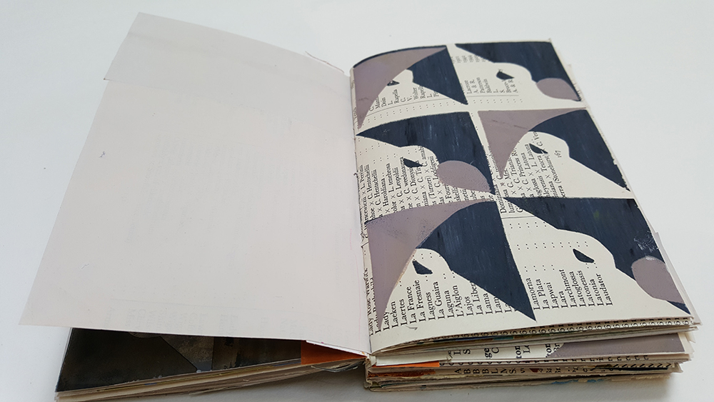 Some will have one patterned page...