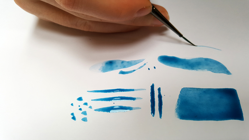 Exploring the anatomy of the brush and how it affects the marks the brush can make