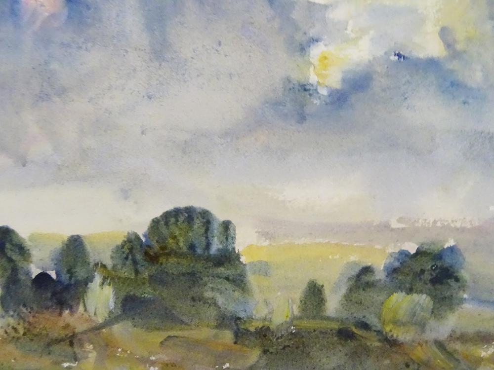 "Detail: ""Sunset"" by Philip Wilson Steer, 1915, Fitzwilliam Museum Cambridge"