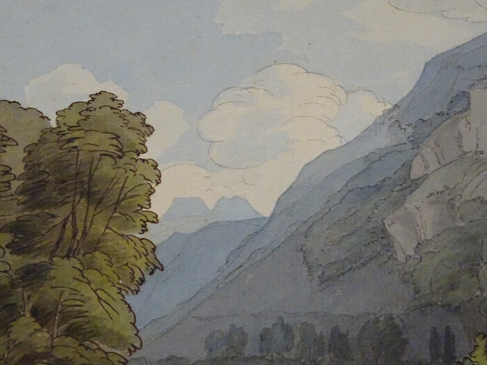 "Detail: ""Lough Rigg, Ambleside"" by Francis Towne, 1786, Fitzwilliam Museum Cambridge"