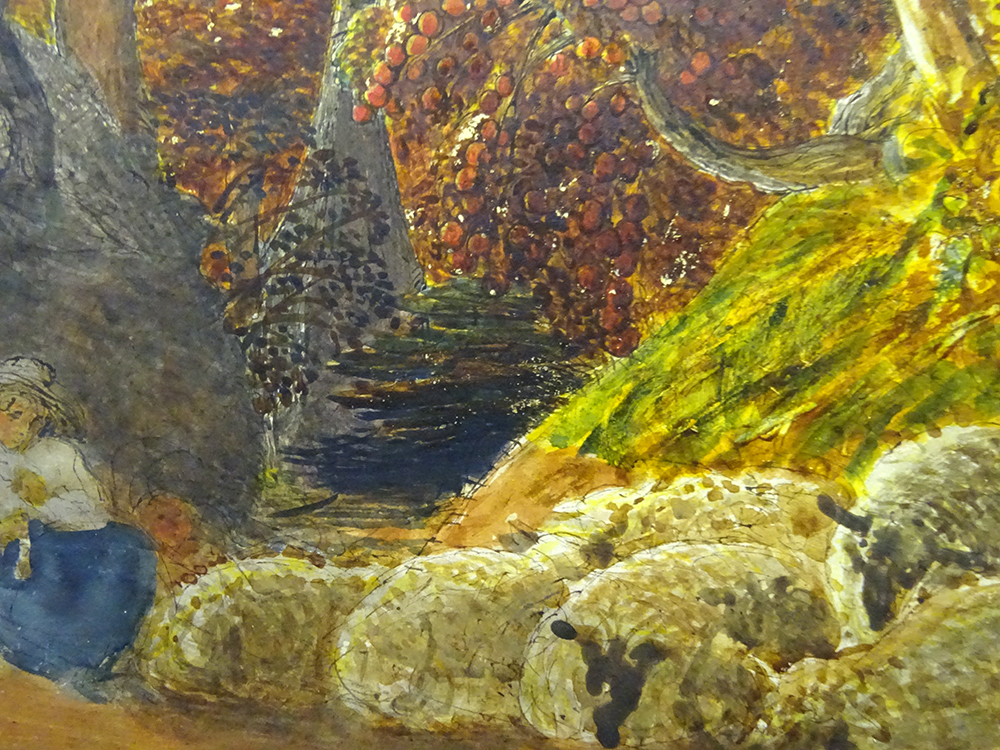 "Detail: ""The Magic Apple Tree"", by Samuel Palmer, 1830, Fitzwilliam Museum Cambridge"