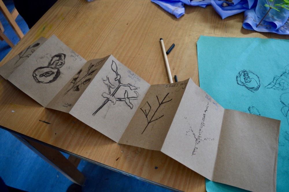 Exploring drawing for mindfulness at Chesterton Community College