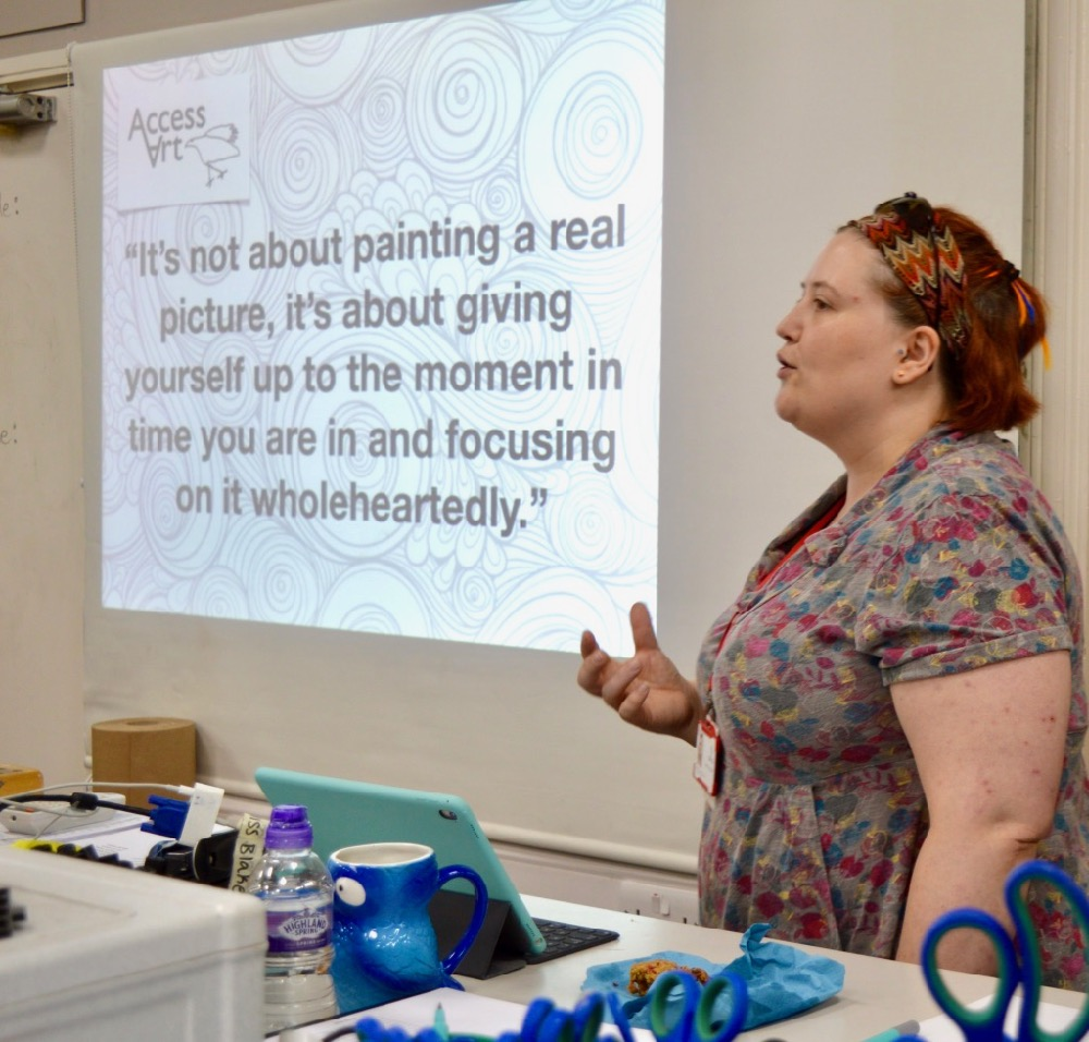 Lucy Blake, teacher at Chesterton Community College, Introducing Drawing for Mindfulness with her own prompts