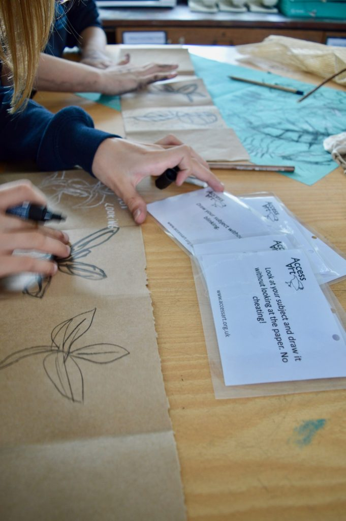 Drawing prompts - Art and Wellbeing at Chesterton Community College