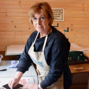 Susie Mackenzie in her studio