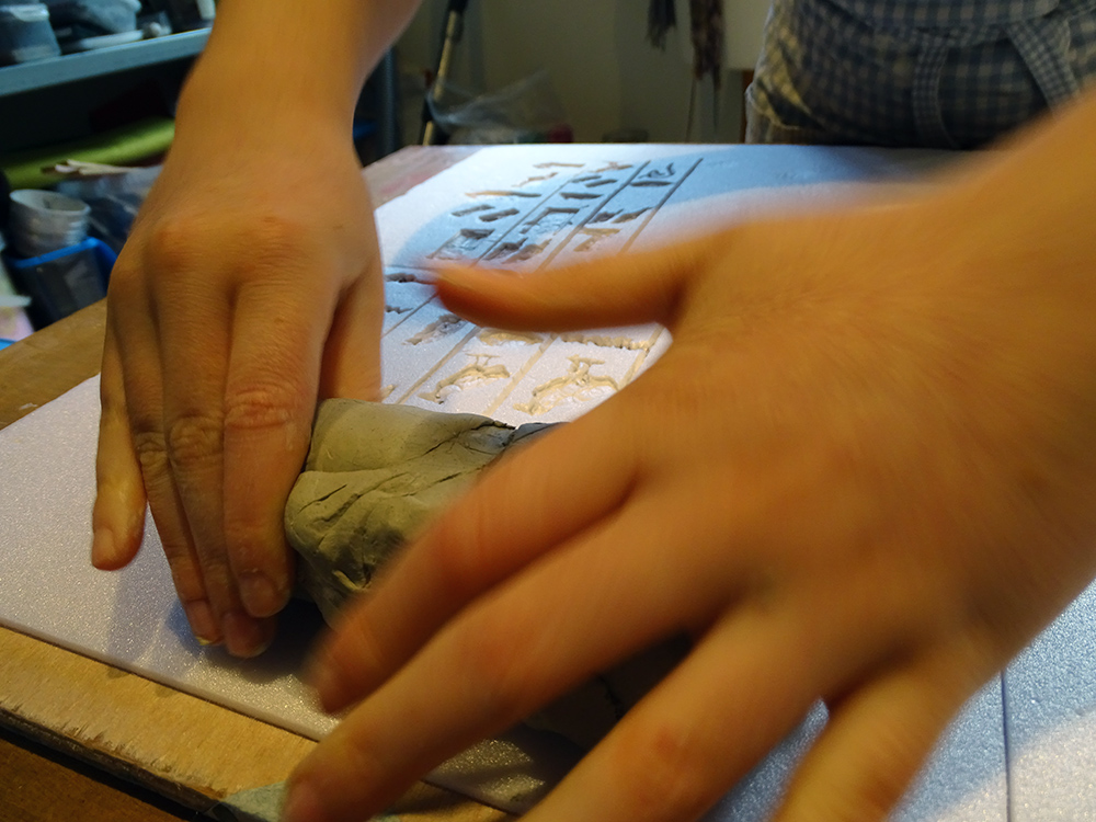making the walls of the mould