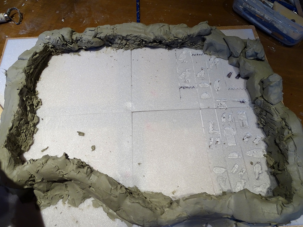 the finished walls of the mould