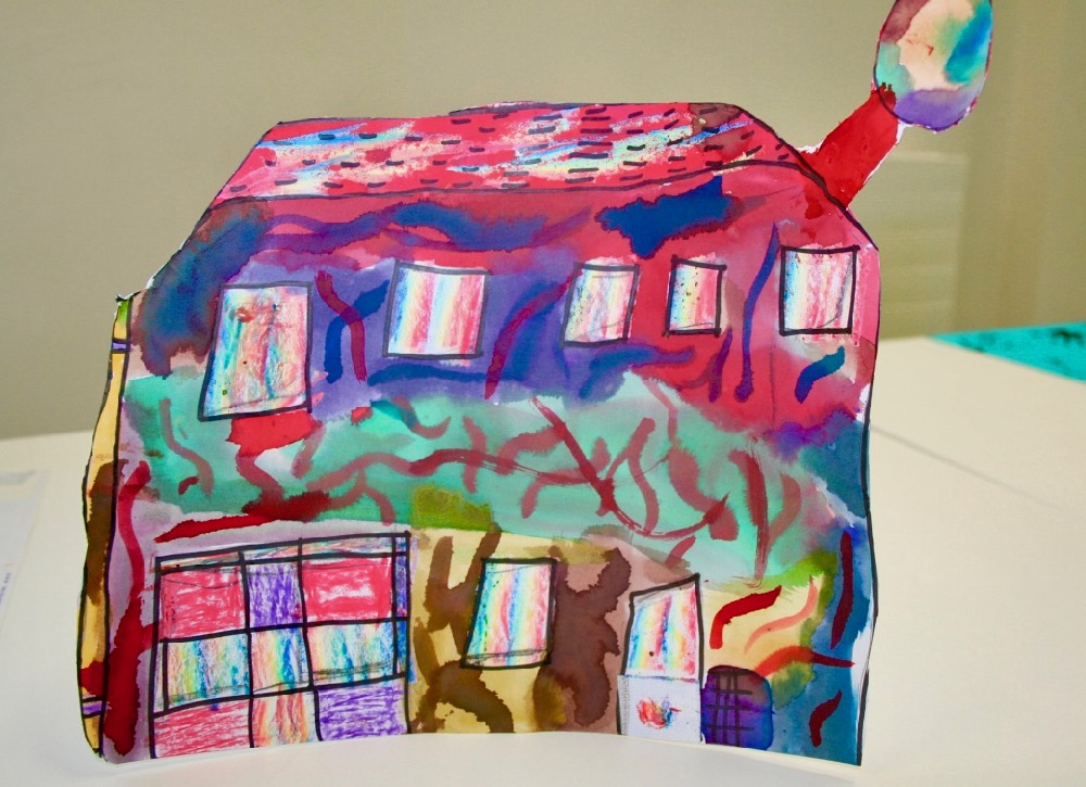 Finished house - free standing - by a year five pupil at Berry Hill Primary School, Mansfield