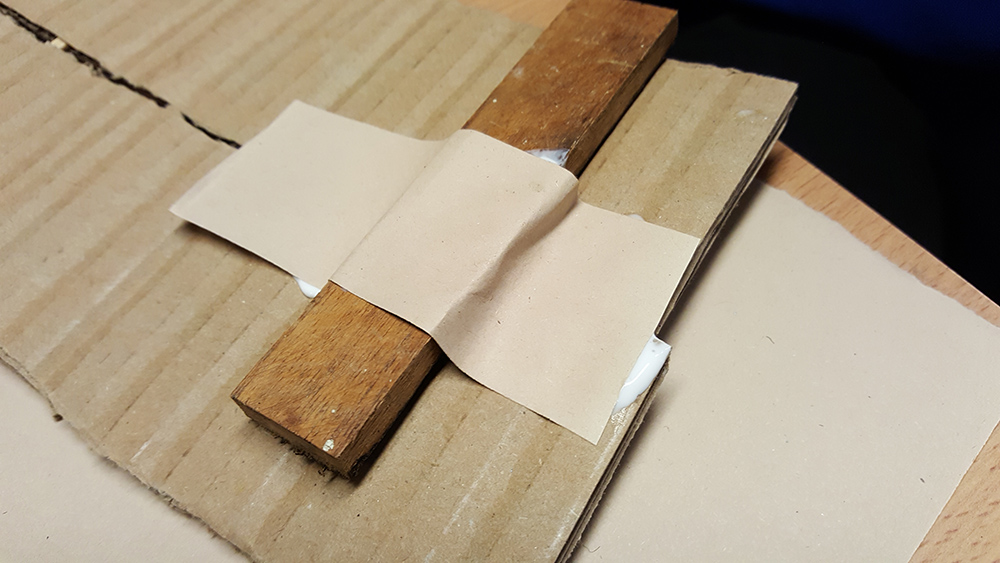 Using paper tape (strips of paper and pva glue) to fasten