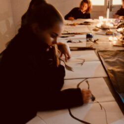 Exploring drawing by candlelight by Sheila Ceccarelli