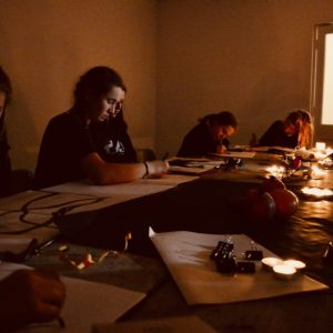 "Students explore the quality of line making, composition and sketchbook approaches in candlelight.   [themify_button style=""xlarge block"" link=""/composite-still-life-studies-in-candlelight/"" color=""#78608e"" text=""#ffffff""]Read More[/themify_button]"
