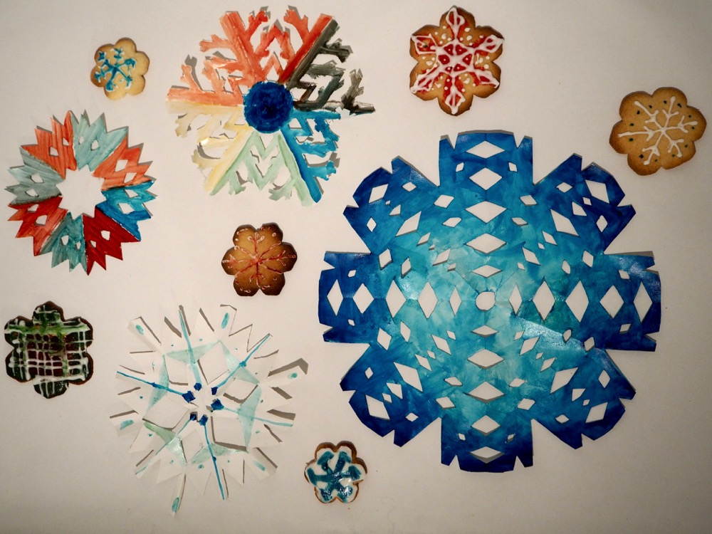 Paper and Cookie Snowflakes
