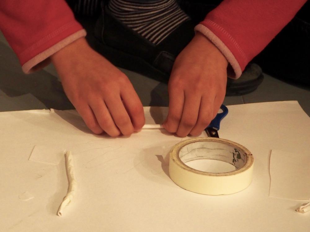 Rolling Tape to Make Bones