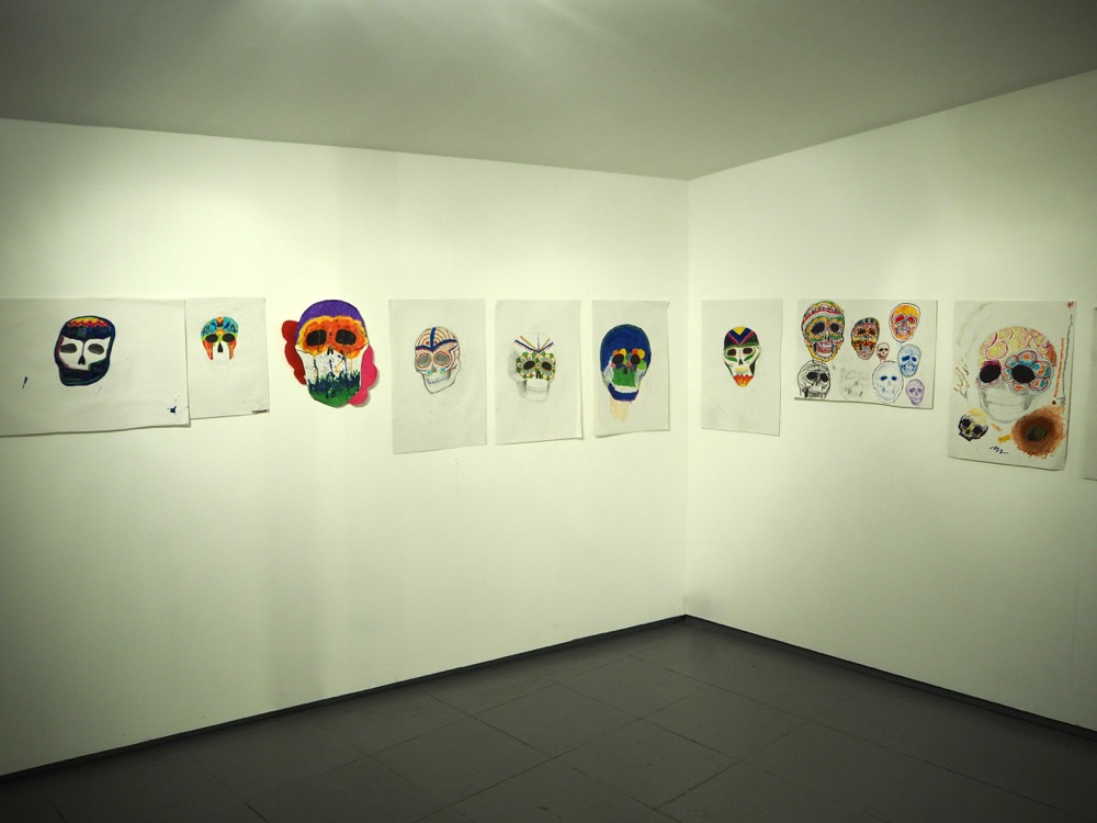 A Gallery of Brightly Coloured Skulls