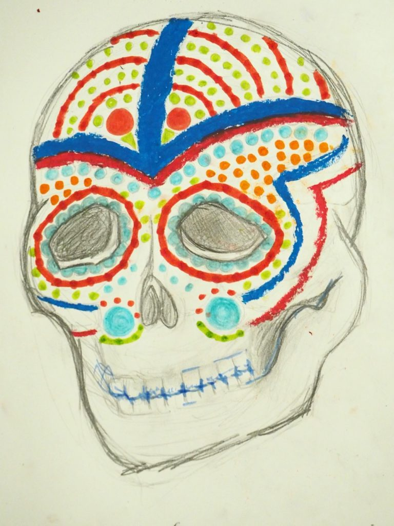Skull with Dots