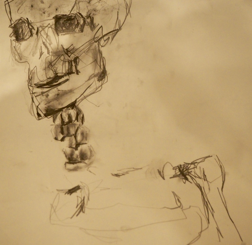 Study of Skull in Charcol