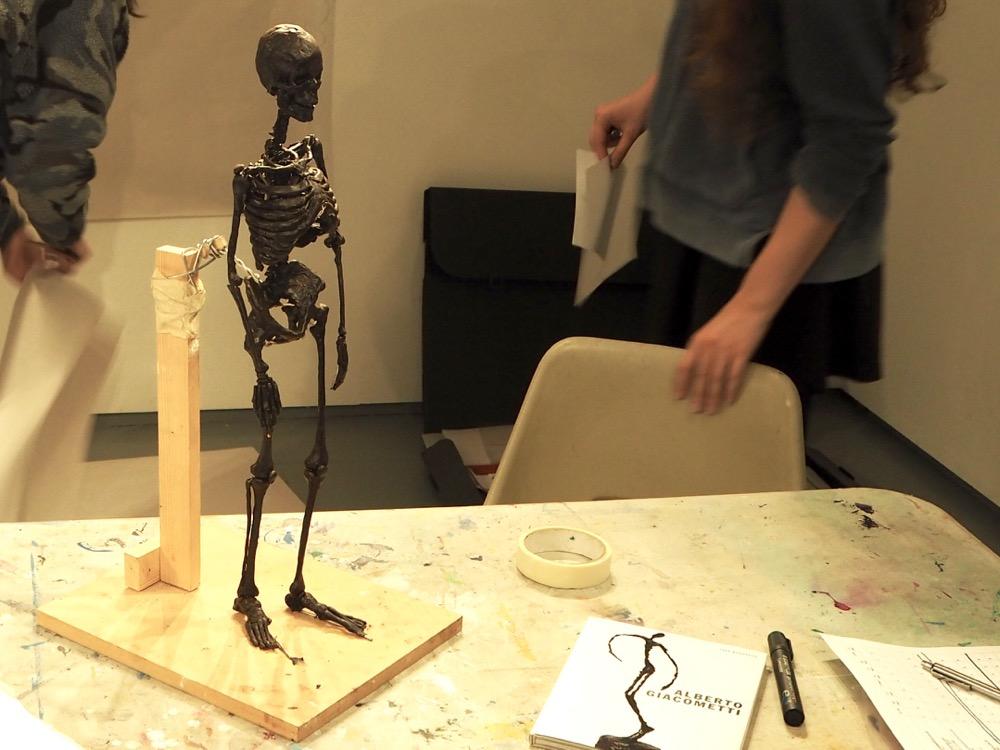 Wax Model of Human Skeleton