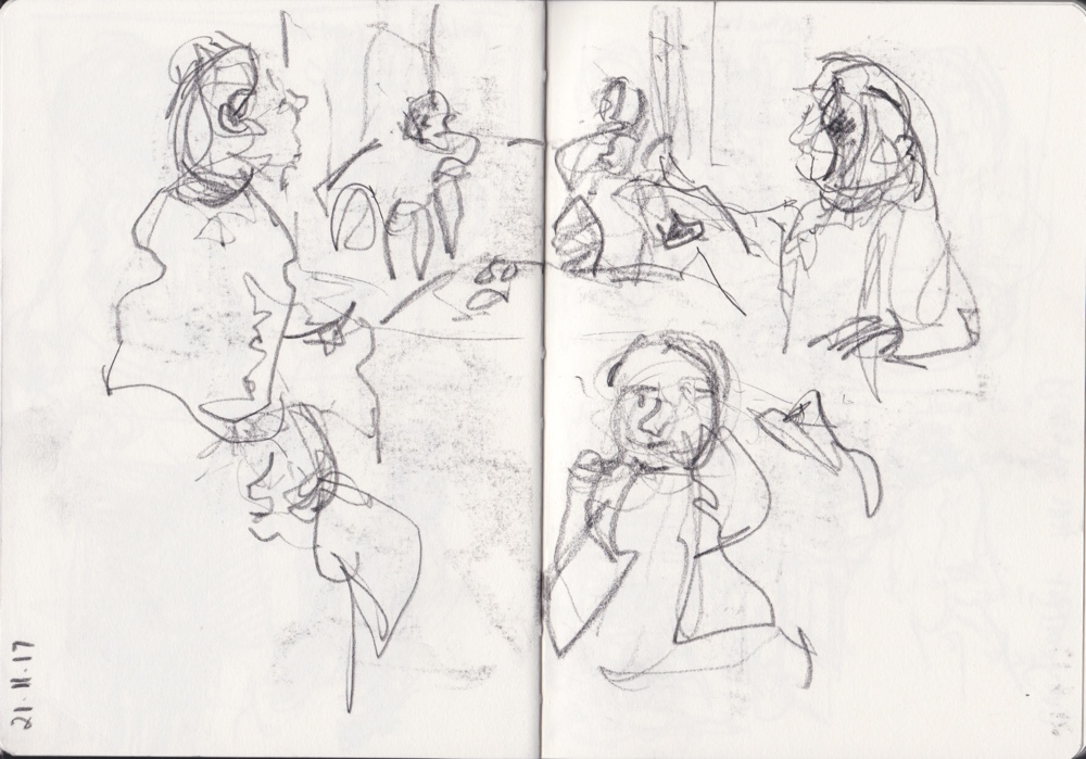 Starting with Contour Drawing: Sketchbook Pages by Andrea Butler