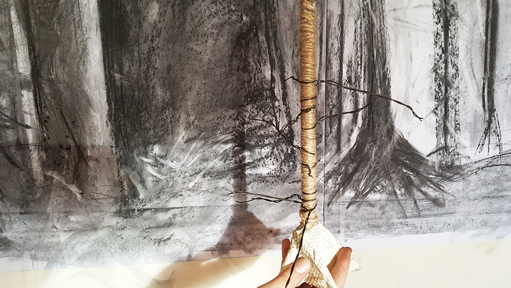 The Winter Tree Challenge provides an opportunity for students to explore the relationship between drawing and making, and in doing so create a landscape context for the gallery.