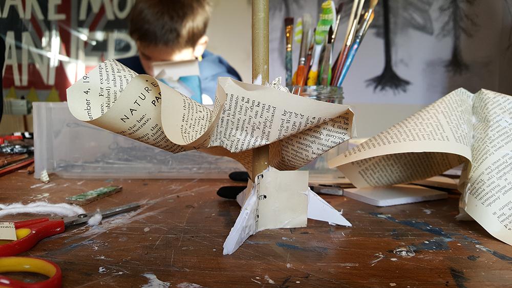 Exploring materials in the Winter Tree Sculpture Challenge