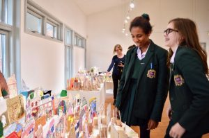 This AccessArt workshop was led by Sheila Ceccarelli for year nine students at Frances Bardsley Academy in Romford, where the The AccessArt Village was displayed in the school's adjacent Brentwood Road Gallery, in January 2018.