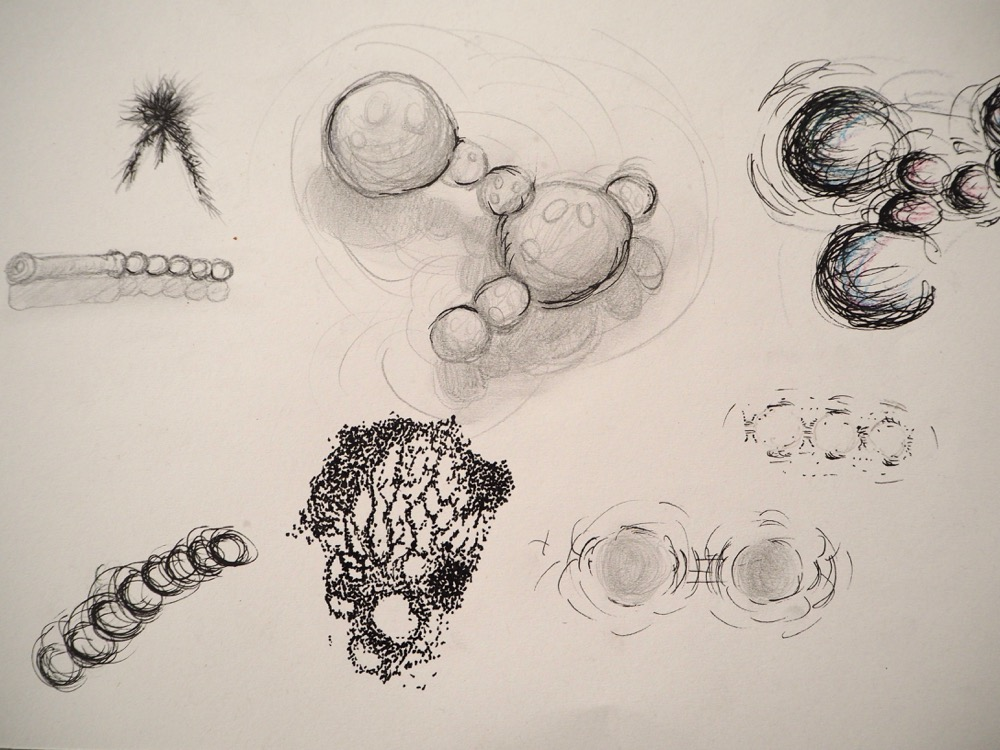 Drawings of Magnets, Filings and Forces