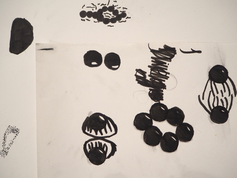Black Ink Drawing of Magnets