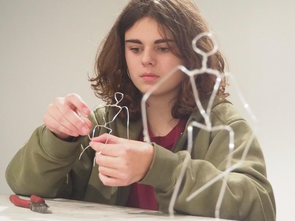 A Flexible Wire Skeleton