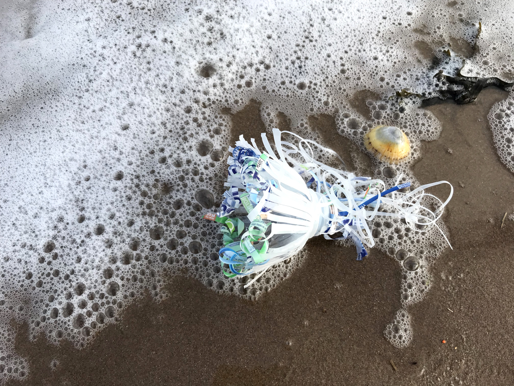 One Material: Sea Sculptures from plastic bottles by Andrea Butler