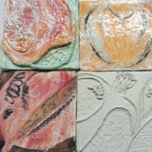 Fruit inspired clay tiles