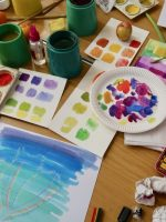 Colour Mixing with different water based painting mediums - SC