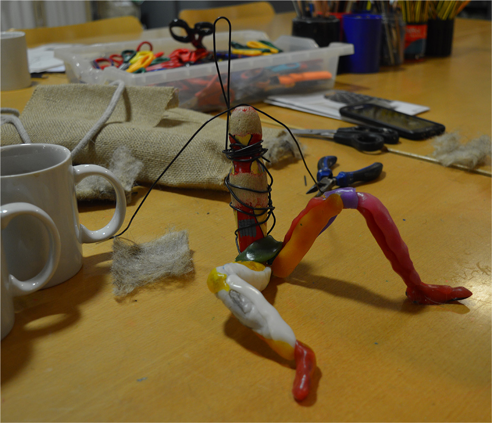 Modelling wax over wire armature