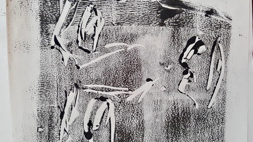Degas inspired mono-print - Sc Fitz